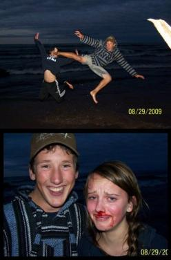 Family picture gone wrong. I'm dying laughing at this :): Face, Epic Fail, Giggle, Jumping Picture, Funny Stuff, So Funny