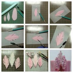 Feather tutorial - For all your cake decorating supplies, please visit craftcompany.co.uk: Cake Feathers, Fondant Gumpaste, Fondant Feathers Tutorial, Cakes, Fondant Tutorials, Cake Decorating Ideas, Pixels, Cake Tutorials