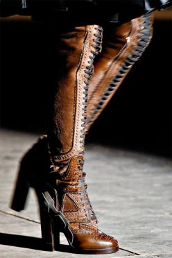 for Carol: Steampunk Boots, Fashion, Style, Lace Up Boots, Clothes, Givenchy Boots, Shoes Boots, Fall 2012, Steam Punk