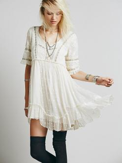 Free People Little Dot Mini Dress at Free People Clothing Boutique: Style, Freepeople, Mini Dresses, White Dress, Clothing Boutique, Dots, Free People Dress