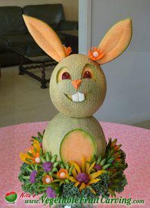 Fruit+Carving+Ideas | ... are some other subjects that will give you more fruit carving ideas: Easter Centerpieces, Food Carving, Fruit Carving, Fruit Art, Food Art, Easter Bunny, Easter Ideas