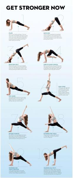 Get Stronger Now - Yoga not only is an effective method to reduce stress, but also is a good way to get fit and stay healthy.: Yoga Exercise, Yoga Stretch, Yoga Fitness, Yoga Poses, Yoga Workouts, Yoga Move, Fitness Yoga, Yoga Sequences, Yoga Pilates