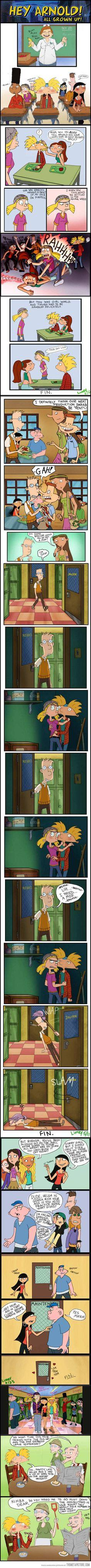 Hey Arnold characters as teenagers