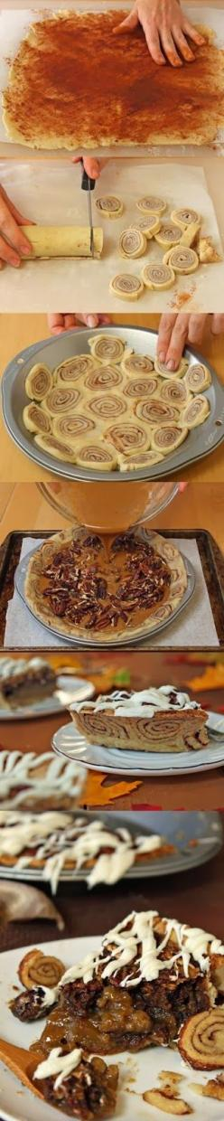 How To Cinnamon Bun Pecan Pie: Apple Pie, Bun Pecan, Pumpkin Pie, Cinnamon Up, Pecan Pies