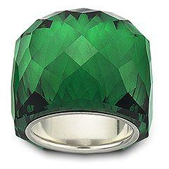http://rubies.work/0304-sapphire-ring/ emerald crystal ring - swarovski: Emeralds, Emerald Green, Style, Swarovski Nirvana, Jewelry, Nirvana Emerald, Emerald Rings, Accessories