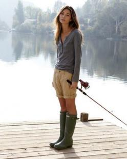 Hunter Boots- oh how i love u: Fashion, Hunter Boots, Hunters, Rain Boots, Style, Outfit, Fishing