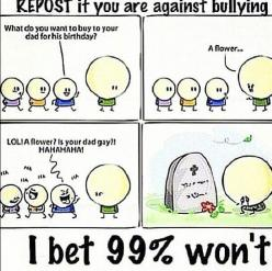 I know this doesn't have anything to do with 1D but please keep repinning this. Be against bullying.: Bullying Comic, Don T Bully, Anti Bullying, Repost, Rap, Hate Bullying, Stop Bullying, So Sad