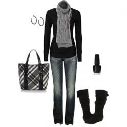 I love black!: Fashion, Style, Black Outfit, Winter Outfits, Fall Outfit, Scarf, Fall Winter