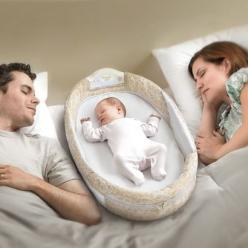I wish I had this instead of a seperate bassinet. Handy!! And can travel...  Baby Delight Snuggle Nest Surround: Cosleeper, Baby Baby, Baby Bassinet, Baby Someday, Baby Co Sleeper, Baby Stuff
