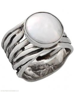 If she were to wear a Ring, this would be it. Coin Pearl, Sterling Silver.: Mermaid Ring, Silpada Designs, Sterling Silver, Silpada Ring, Silpada S, Silpada Jewelry, Silver Rings