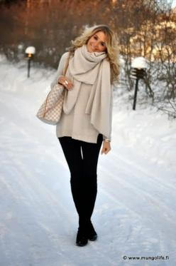 Keep winter style looking tailored by pairing oversized sweaters with slim fit pants. #WinterFashion: Louis Vuitton, Winterfashion, Fall Style, Winter Style, Winter Outfits, Winter Fashion, Fall Fashion, Fall Winter