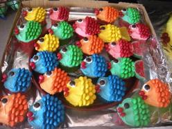 M & M fish cupcakes!: Birthday, Sweet, Food, Mms, Cup Cake, Fish Cupcakes, Party Ideas, Dessert