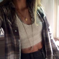 nobody is active :-//: Attire, Style, Clothes, Outfit, Wardrobe, Boho, Flannel, Fall Winter, Crop Top