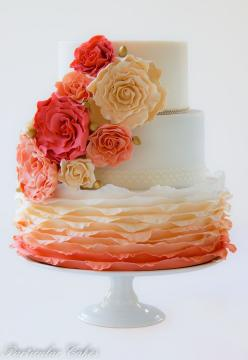 Ombre wedding cake Source: cake central #weddingcake: Ombre Wedding Cake, Spring Colours, Pretty Cake, Amazing Cakes, Ombre Cake, Wedding Cakes, Beautiful Cakes