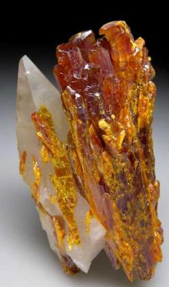 Orpiment with Calcite from Shimen Realgar Mine, Hunan, China: Gems Crystals Stones, Minerals Crystals Gems, Gemstones Rocks, Crystals Minerals Stones, Gems Stones Minerals, Rocks Minerals Gems, Crystals Gemstones, Crystals Gems Rocks, Crystals Gemstone Mi