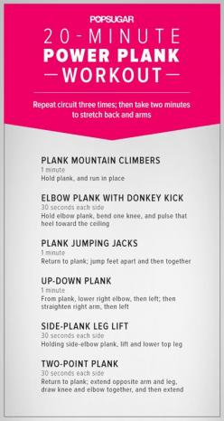 Plank Circuit Workout // In need of a detox? Get your teatox on with 10% off using our discount code 'PINTEREST10' at www.skinnymetea.com: Planks, Fitness, Work Outs, Exercise, 20 Minute, Plank Workout, Power Plank, Circuit Workout