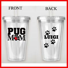 Pug Mom Double Wall Tumbler: Girls, Mom Acrylic, Cups, Mom Cup, Dallas Cowboys, Dallas Girl, Acrylic Cup, Crafted Tumblers
