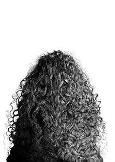 """Saatchi Online Artist: Alan Fleming; Graphite, Drawing """"Mariana"""" Well hey dere this looks familiar...CURLY HAIR."""