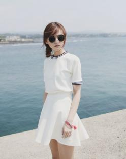 seoul of my heart - I Like It That Way: All White, Asian Fashion, Kfashion Summer, Street Style, Korean Dress, White Outfits, Korean Fashion, Korean Summer Outfits