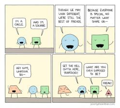 Shapes: Poor Freak Trapezoid: Comic, Funny Stuff, Funnies, Humor, Shape, Poor Trapezoid, Hilarious