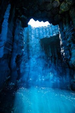 The Blue Cave on Xiji Islet | The Dancing Rest http://thedancingrest.com/2014/11/01/the-blue-cave-on-xiji-islet/: Travel Destination, Nature, Sea Caves, Blue, Taiwan, Beautiful Places, Photo