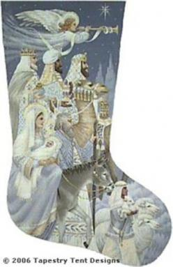 The Nativity Needlepoint Stocking--this is my husband's (as yet unstitched) stocking...: Nativity Needlepoint, Needlepoint Christmas, Canvases Unstitched, Needlepoint Stockings, Cross Stitch, Borduren Kerstsokken, Nativity Stockings, Christmas Stockin