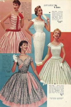 These summer fads were highlighted in the Lana Lobell catalog in 1955. What do you think of the fashion from this decade? Would you have followed the trend? (via Reminisce): Lobell Catalog, Lana Lobell, Summer Fashion, 1950Sfashion, Vintage Fashion, Dress