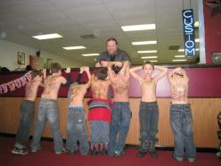 This is what happens when your dad is a tattoo artist, and you have your 9th birthday party at his shop. :)  (sharpie) .... coolest dad ever.: Awesome, Tattoos, Tattoo Artists, Funny, A Tattoo, Dads, Coolest Dad, Birthday Party, Kid