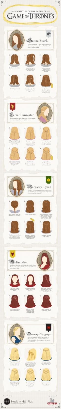 This may be useful for you ladies who actually have long hair. ;) :: How To Hair - DIY Hair Resource From How To Hair Girl | Game of Thrones hair: Hair Ideas, Hair Styles, Hair Tutorial, Makeup, Thrones Hairstyles, Gameofthrones, Beauty, Game Of Thrones