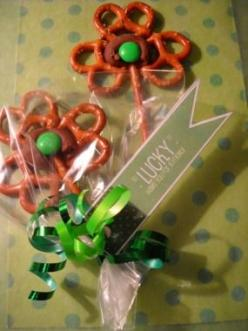 Twisted Shamrocks | St. Patrick's Day Crafts & Recipes - Parenting.com: Stpatricks, Stpattys, St. Patrick'S Day, St Patty, Pretzel Shamrock, St Patricks, Shamrock Pretzel