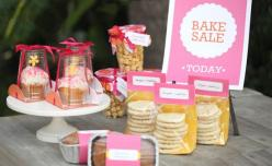 Very sweet and simple display idea for bake sales - DIY packaging: Sale Templates, Sweet, Bake Sales, Display Idea, Baked Goods, Goods Packaging, Bake Sale Packaging, Packaging Ideas