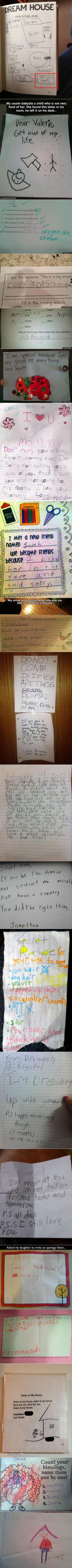 We have rounded up some funny and unusual, yet real, notes from geeky kids.: Funny Kids Letters, Funny Kids Notes, Geeky Kids, Funny Notes From Kids, Died Reading, Funny Letters From Kids, Funny Kid Letters, Future Kids, Funny Teachers