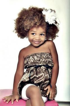 What a little beauty. ^_^: Girl, Style, Beautiful, Children, Adorable, Natural Hair, Box, Naturalhair, Kids