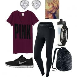 Workout outfit: Sporty Outfit, Highschool Outfit, Workout Outfits, Dance Outfit, Nike Shoes Outlet, Sporty School Outfit, Lazy Day Outfit, Athletic Outfit, School Workout Outfit