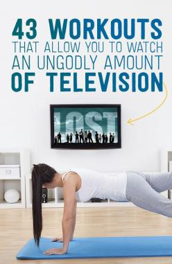 Workout while you watch TV! 43 Workouts that allow you to watch an ungodly amount of Television (from Buzzfeed): Tv Exercise, Lazy Workout, Tv Workout, Work Out, Tv Show Workout, Ungodly Amount, Fitness Workout, 43 Workouts