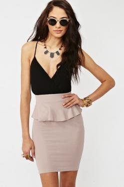 Wrapped Peplum Dress: Fashion, Style, Wrapped Peplum, Outfit, Nasty Gal, Nastygal, Peplum Dresses