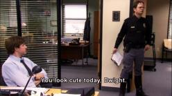 you look cute today Dwight: Girl, Drug Testing, The Office, Funny Stuff, Today Dwight, Smile