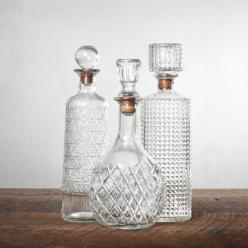 1920s Cut Crystal Decanter Set: Correlation 1920S, Crystals, Vintage Decanters, 1920S Bars