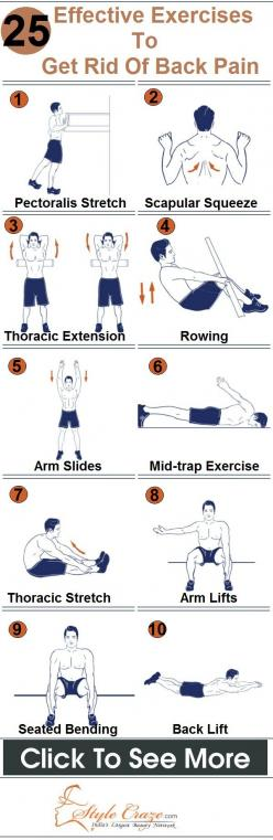 25 Effective Exercises To Get Rid Of Back Pain. Stay healthy my friends. www.selfiesnation.com: Backpain, Stay Healthy, Health Tip, Fitness Healthy, Fitness Exercises, Effective Exercises, Back Pain, Exercises Fitnesstips, Workout