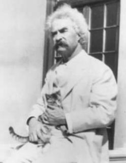 """""""Of all God's creatures, there is only one that cannot be made slave of the lash. That one is the cat. If man could be crossed with the cat it would improve the man, but it would deteriorate the cat."""" - Mark Twain: Cat People, Cats, Author, Ki"""