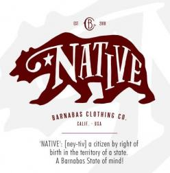'NATIVE': [ney-tiv] a citizen by right of birth in the territory of a state. A Barnabas State of mind!  #wearGOOD: Citizen, But, Native, Barnabas State, Mind, U.S. States, Births, Products, Ney Tiv