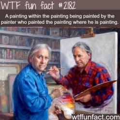 A painting within a painting…. - WTF fun facts I don't even know where to begin with this: Paintception, Artists, Alex Alemany, Stuff, Alexalemany, Funny, Alex O'Loughlin
