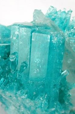 Beryl: the stone of new beginnings, helps you see both sides of the issue, encouraging generosity, compassion, and forgiveness | #perspicacityparty #magicgeodes #beryl: Turquoise Blue, Gemstone, Mineral, Tiffany Blue, Beryl Quartz, Quartz Matrix, Gem Crys