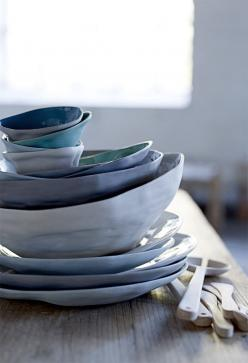 Bloomingville Collection printemps//: Color, Blue, Pottery, Ceramics, Tableware, House, Things, Kitchen