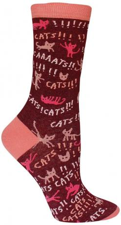 Cats! Socks from The Sock Drawer: Cats, Cat Infested, Blue, Clothes, Crew Socks, Cat Themed Socks, Awesome Cat, Things, Products