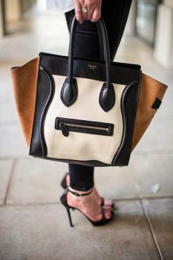 """Celine Paris Leather Handbag// """"My lips are sealed."""" This bag looks like it knows something that is going to haunt it for the rest of its days. *whispers* """"It's full of secrets"""" (Mean Girls!): Fashion, Style, Handbags, Celine Handbag,"""