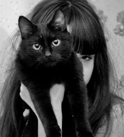 Charles I, king of England, owned a black cat that he felt brought him luck. He was so afraid of losing it that he had it guarded day and night. As it happened, the day after the cat died, he was arrested.: Kitty Cat, Animals, Girl, Meow, Black Cats, Post