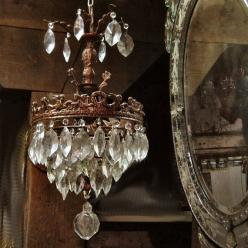 Cherub Crystal Chandelier II Bohemian Elegance by DovelySells, on Etsy: Crystals, Interior, Crystal Chandeliers, Chandelier S, Antique Mirror, Lighting, Vintage, Gypsy Purple, Purple Home