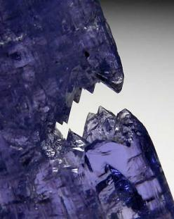 Etched Tanzanite crystal with a flattened, tabular form. Etched Tanzanites are not common and this one has an unususal shape.: Etched Tanzanite, Minerals Crystals Rocks, Jewelry Gemstones Minerals, Minerals Etc, Crystals Minerals Gems Fossils, Minerals Ro