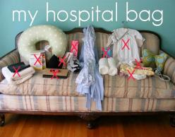 Every mom about to give birth should read this article on what to pack (and not pack) in her hospital bag.  Get ready to laugh while getting some practical advice.  Lots of great comments on the article that are worth reading, too!: Tells Tales, Baby Time